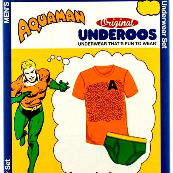 8afe92951fc Aquaman Mermaid man med adult Tee underoos